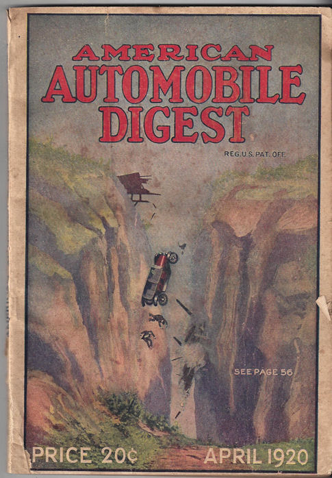 American Automobile Digest                                         ~ April 1920; American                                         Automobile Publishing,                                         Cincinnati, Ohio, 1920. Formally                                         known as The American Chauffeur