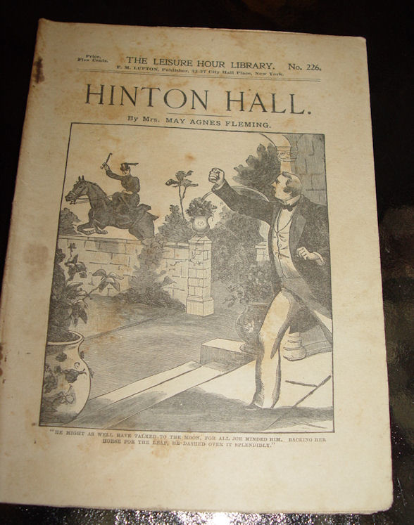 Hinton Hall by Mrs. May                                         Agnes Fleming The Leisure Hour                                         Library Books No. 226