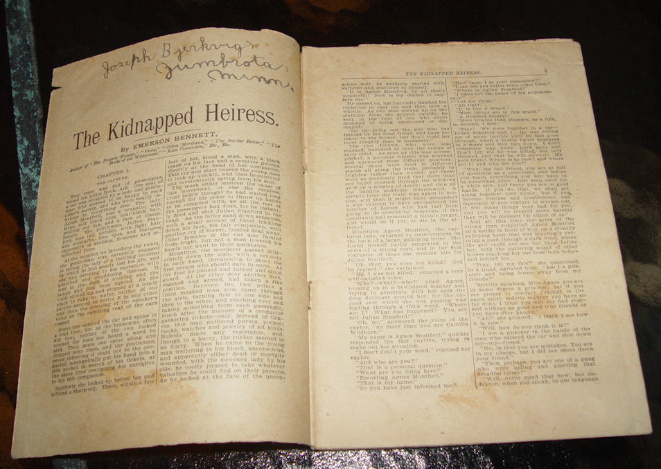 The Kidnapped Heiress by                                         Emerson Bennett The Leisure Hour                                         Library Books No. 342