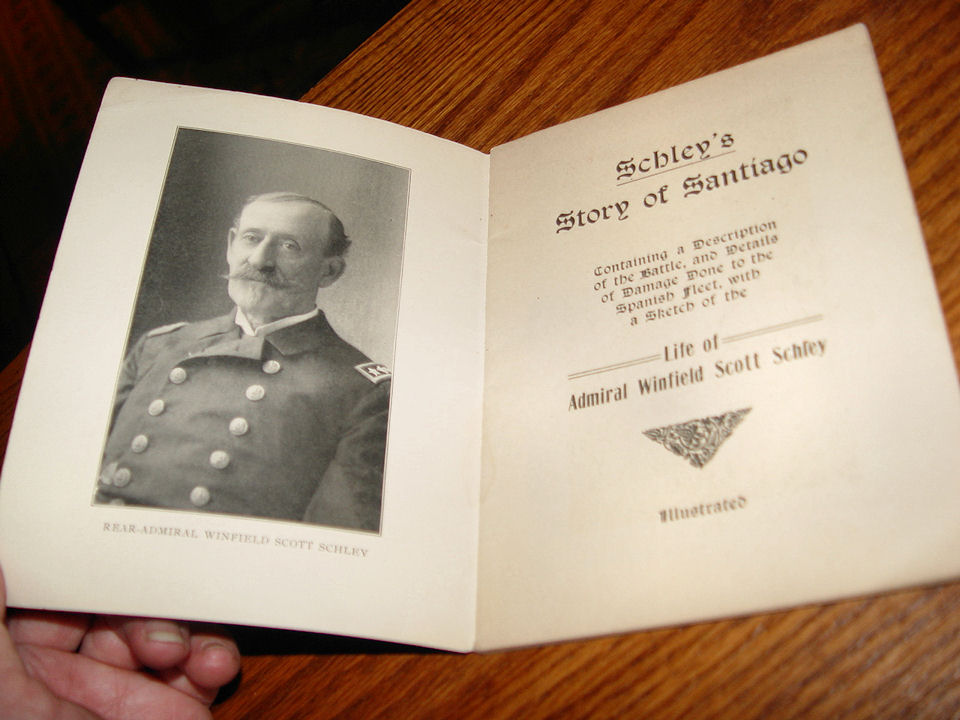SCHLEY'S STORY OF                                                 SANTIAGO - THE LIFE OF                                                 ADMIRAL WINFIELD SCOTT                                                 SCHLEY ~ Antique soft                                                 cover book