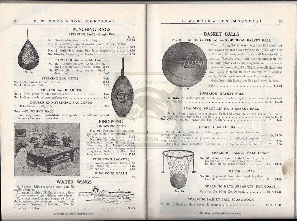 Rare 1926 T. W. Boyd and                                         Son Catalog Summer and Winter                                         Montreal Canada