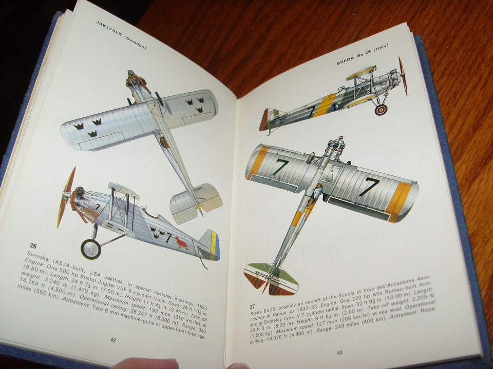 Bombers Between the Wars                                         1919-39: The Pocket Encyclopedia                                         of World Aircraft in Color                                         Hardcover – 1970 by Kenneth                                         Munson