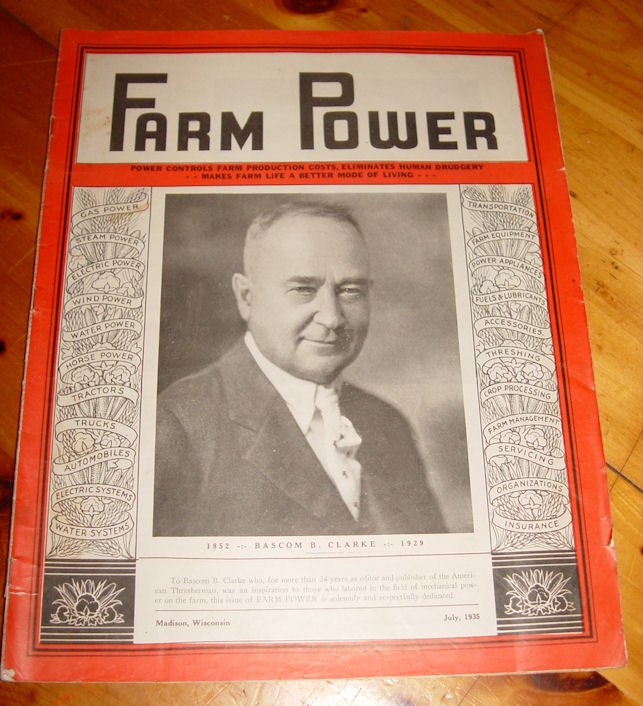 Farm Power, Milwaukee                                         Wisconsin; July 1935 Scarce                                         Magazine