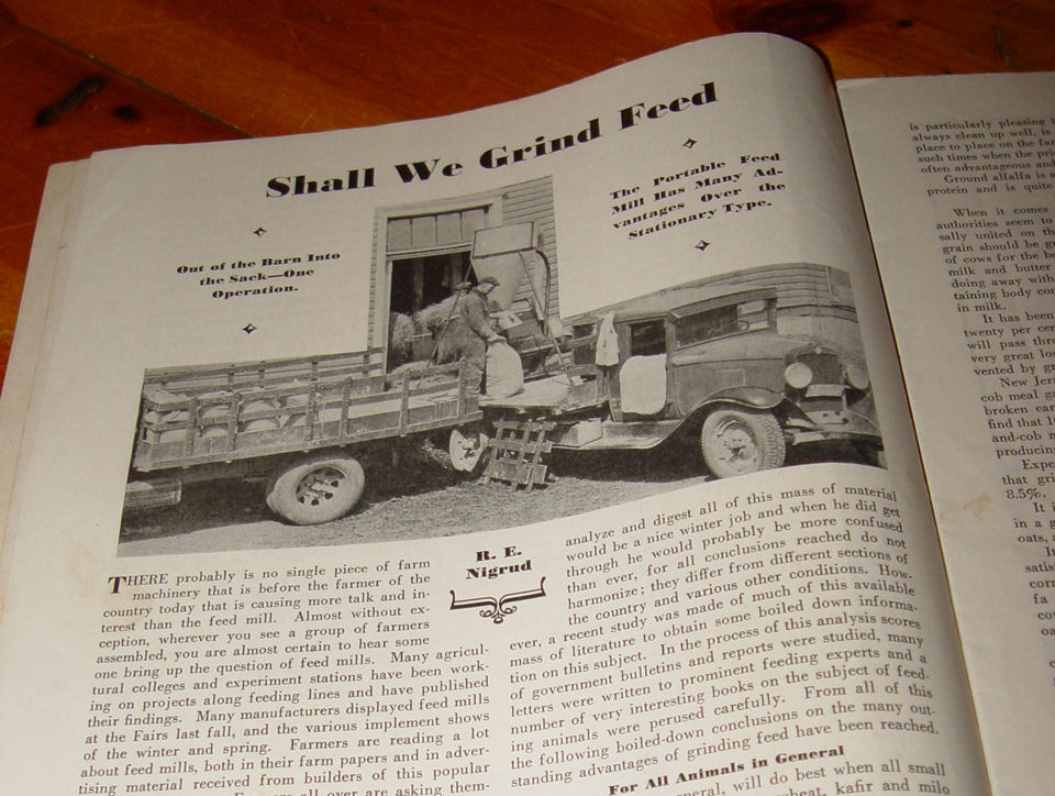 American Thresherman and                                         Farm Equipment - Feb 1932 Scarce                                         Magazine