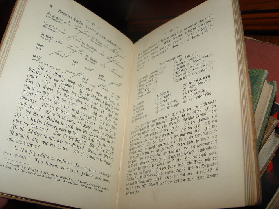 Steiger's Colloquial                                             Method of Learning the                                             German Language NY First Ed.                                             1890