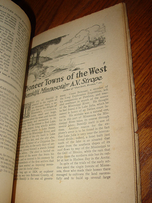 Every Week WESTERN STORY                                         Magazine - Big clean stories of                                         outdoor life. May 21 1927