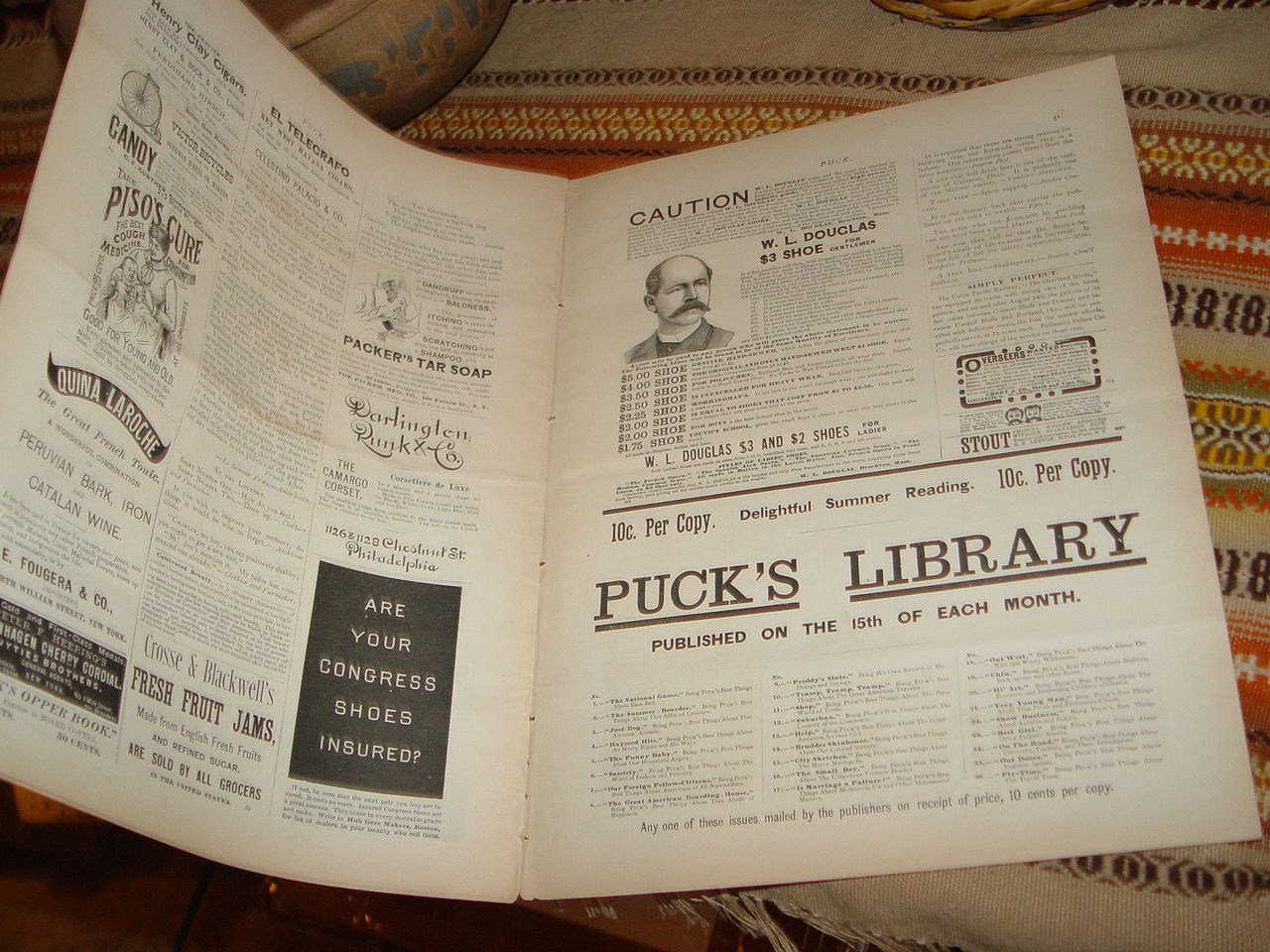 PUCK Vol XXVI                                         Sept 4, 1889 Antique Political                                         Satire Pulp Magazine