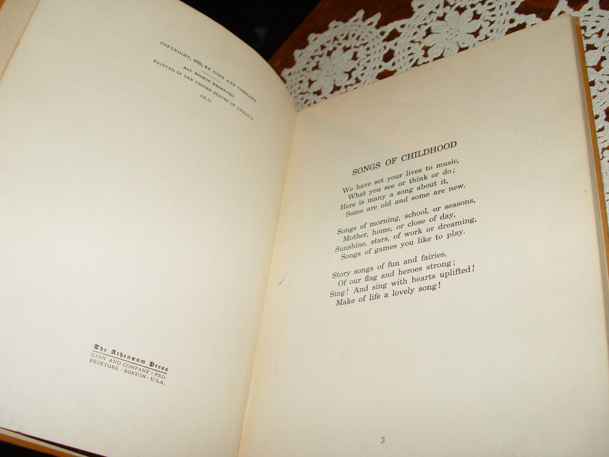 Hemlands-Klockan Hymn book                                         by Andgila Sanger. Publisher P.                                         Benson 1907 Swedish songs and                                         music