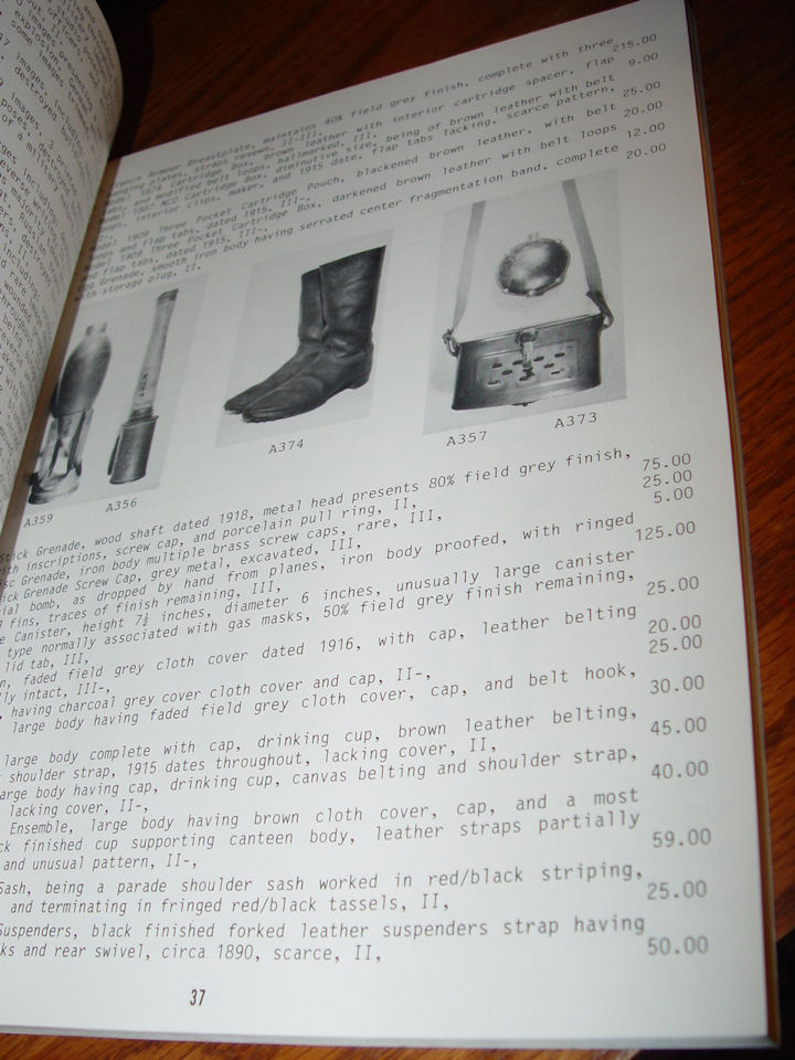 Roger S. Steffen Historical                                         Militaria ~ General Auction                                         Catalogue 116A Militaria and                                         Antique Firearms April 30th,                                         1986
