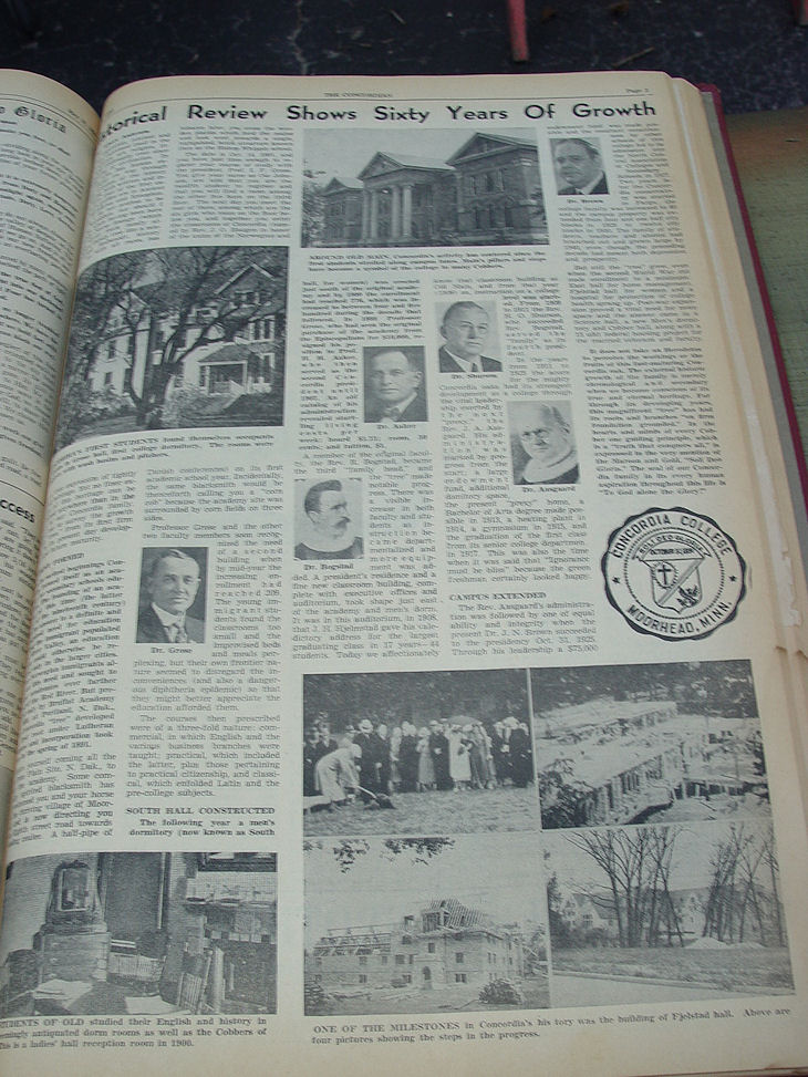 Rare Vintage Moorhead                                         University ~ The Concordian                                         College Newspapers Vols. 39 - 42                                         (1947 to 1951)