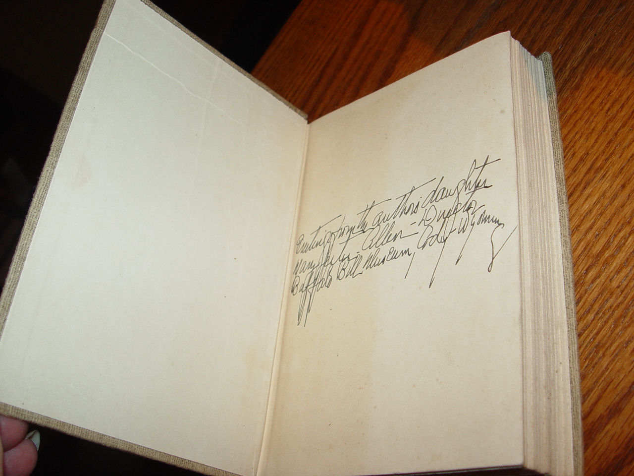 Last of the                                         Great Scouts by Helen Cody                                         Wetmore & Zane Grey ~ Signed                                         by the author's daughter 1918