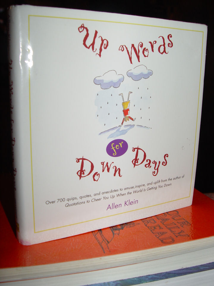 Up Words for Down Days                                         Hardcover – 1998 by Allen Klein