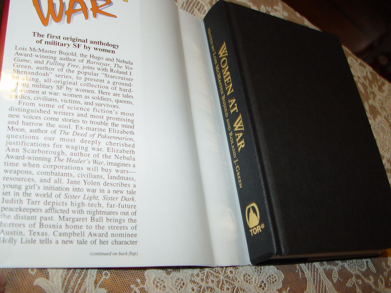 Women at War                                         Hardcover – 1995 by Lois                                         McMaster Bujold , Roland J.                                         Green Tor Books; 1st edition