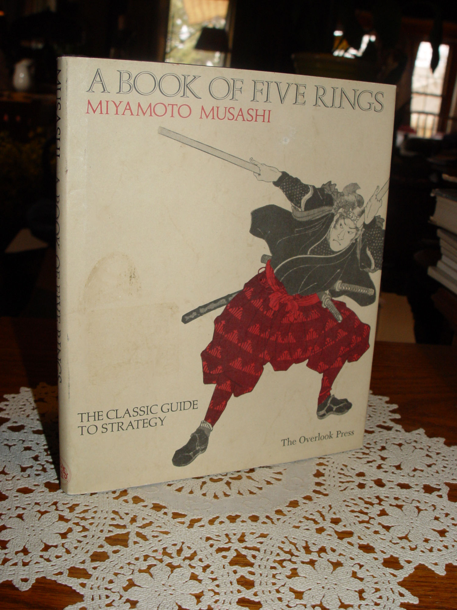 Book of Five Rings: The                                         Classic Guide to Strategy                                         Hardcover – 1974 by Miyamoto                                         Musashi