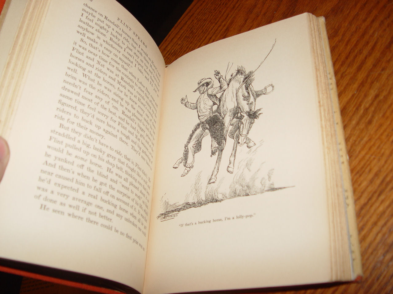 Flint Spears,                                         Cowboy Rodeo Contestant by Will                                         James ~ 1938 2nd Printing