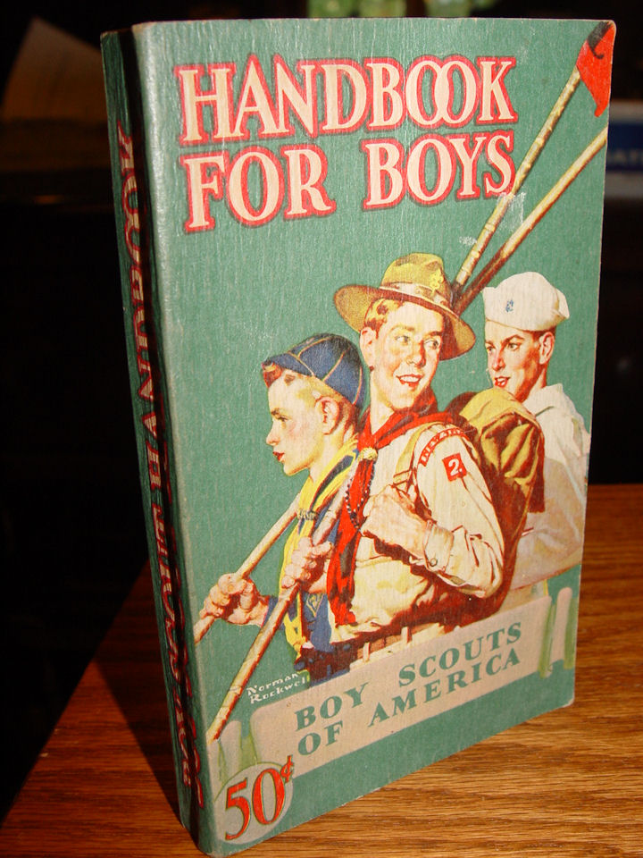 Boy Scouts of America, New                                         York, 1946 Book ~ Norman                                         Rockwell Cover