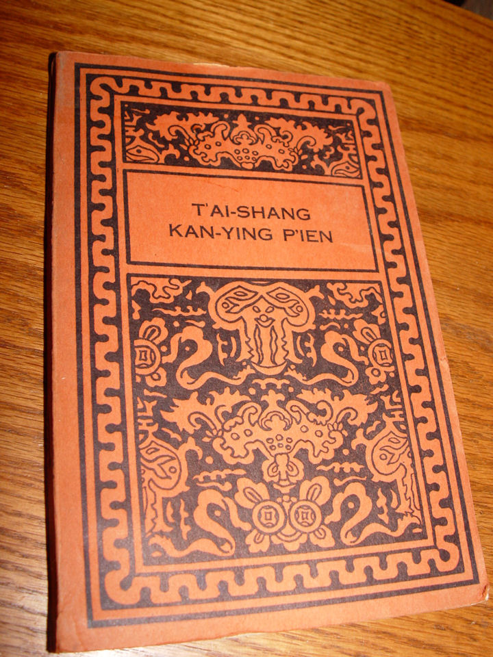 T'ai Shang Kan Ying P'ien ~                                         Open Court Publishing 1950                                         Chinese Moral Tales on Response                                         and Retribution