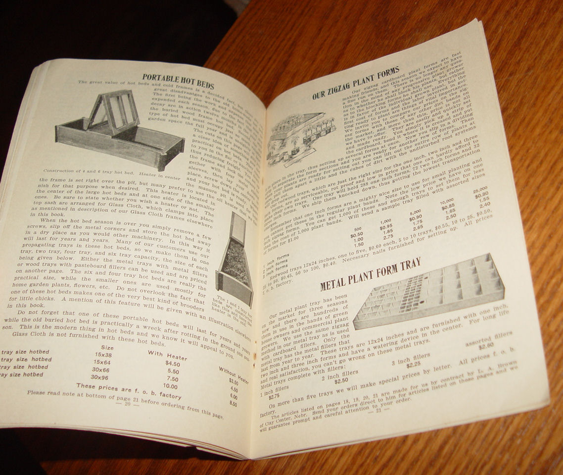 Genuine Glass                                         Cloth, Much Cheaper Thank Glass                                         by Turner Brothers Bladen Neb                                         1927 booklet