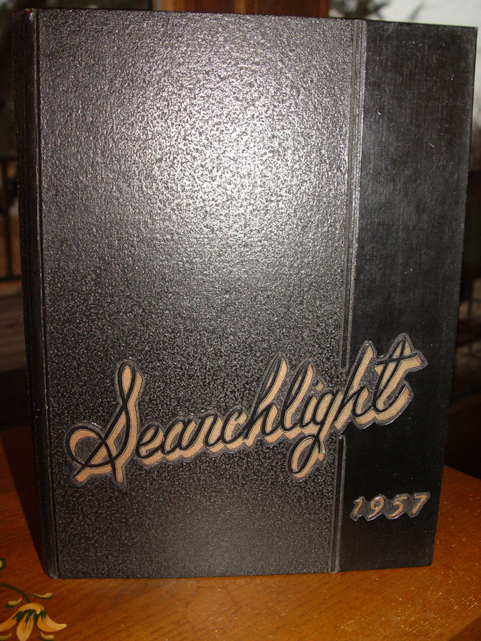 1957 Searchlight Minot                                         Senior High School Yearbook Vol.                                         48 ~ Very nice