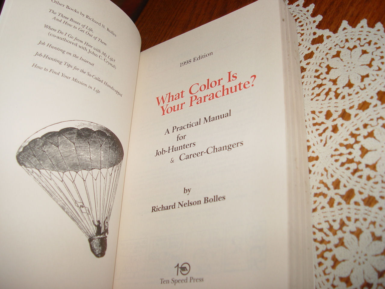 What Color Is                                         Your Parachute? 1998: A                                         Practical Manual for Job-Hunters                                         and Career by Richard N. Bolles